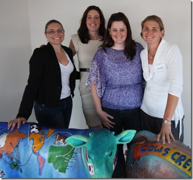 Hollie Baillieu and Art4Ag team members Kirsty John and Heidi Cheney and AgChatOz founder Danical Leys