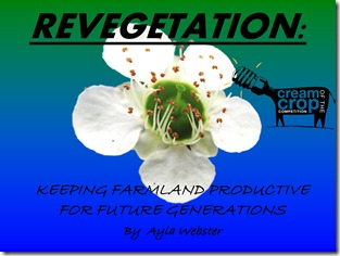 Revegetation of farmland