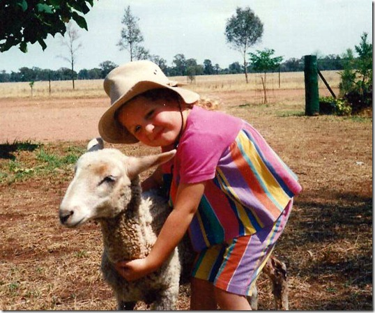 sammi with sheep
