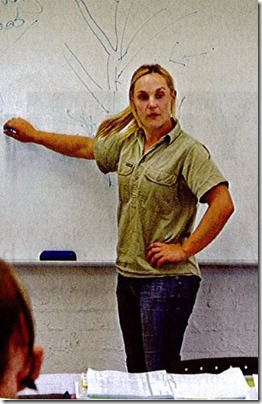 Jo Wren teaching