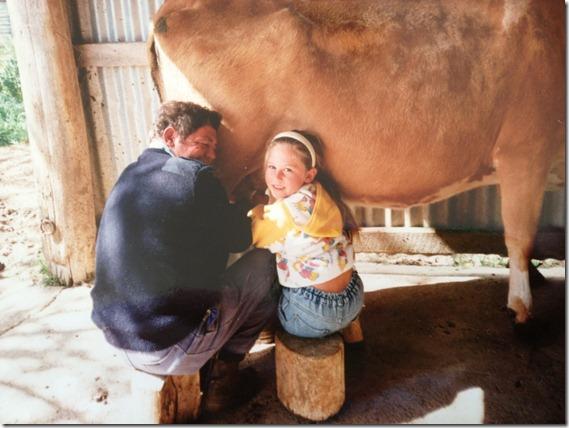katie broughton milking cow