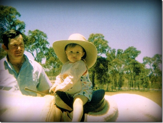 Me with Dad on Horse