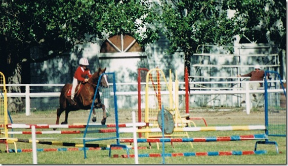 Steph Grills jumping on Midsun Jamboree 1995