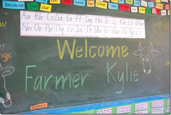 Warm Welcome from Grade Ones Nashville State School