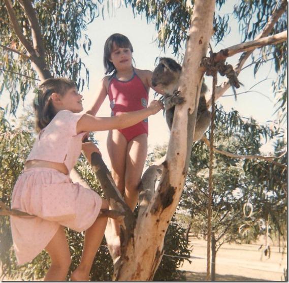 Renae and Lisa with Koala