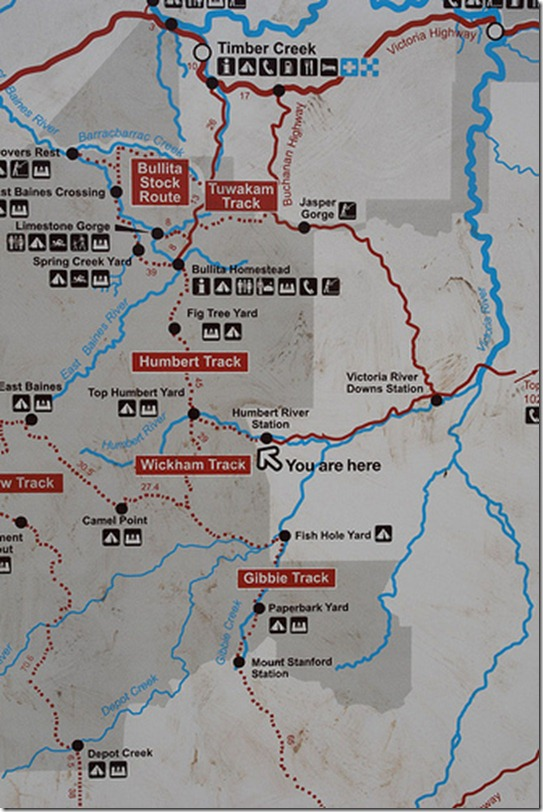 Humbert River Station  Map