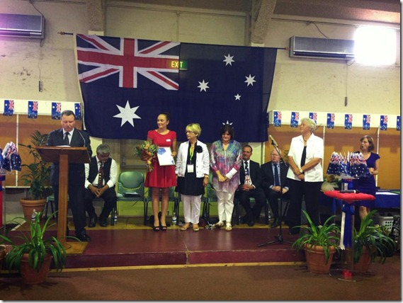 Jess Monteith Shoalhaven Young Citizen of the Year 2013
