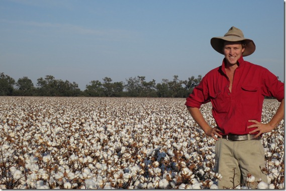 Ben Egan Cotton Young Farming Champion in Cotton Field  (2)