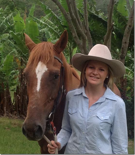 Laura Bennett and horse