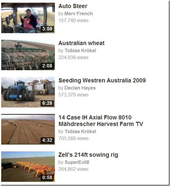Grains video hits