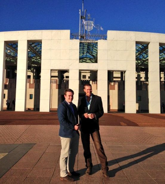 Josh and Tom at Parliament House