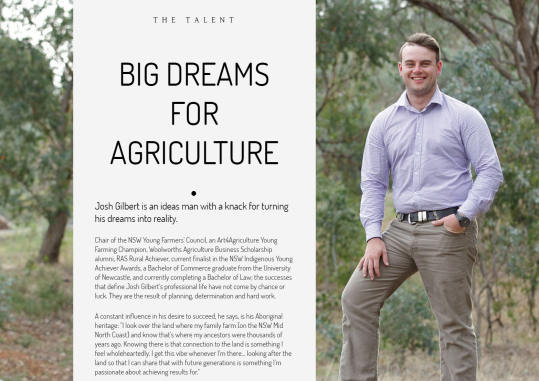 Josh Gilbert Leading Agriculture