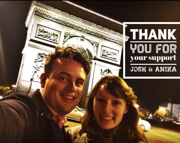 Josh and Anika say thank you for your support
