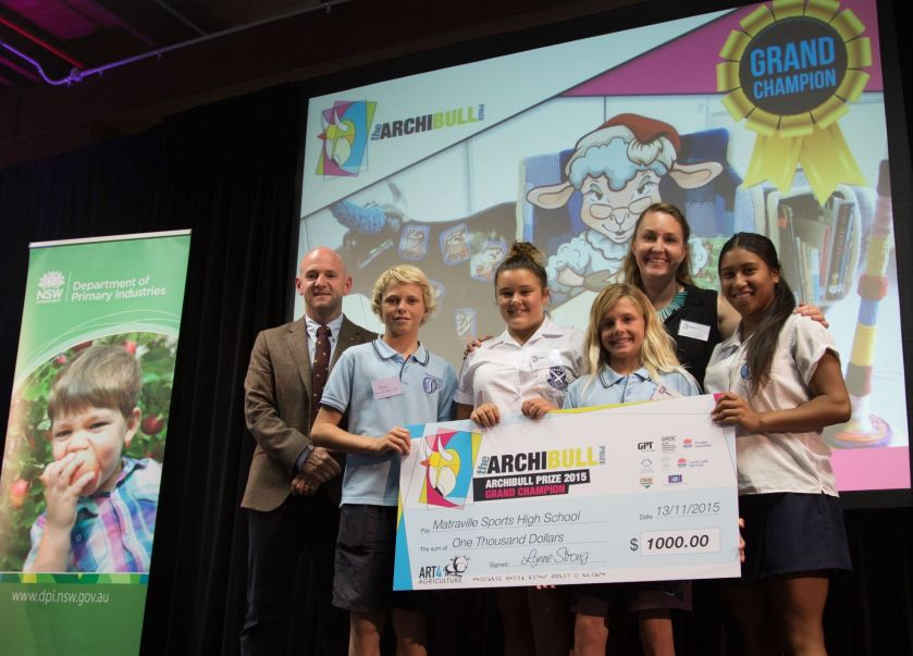 The Hon Niall Blair and Matraville Sports High School Winners of The  2015 Archibull Prize