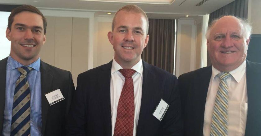 Joe Banks NAPCO, Kris Yule, GM of Sales for News Corp Australia, and Heath Goddard, CEO of Pillow Talk