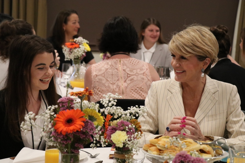 Kaitlin Bell & Julie Bishop at Powerful Women's Breakfast - 2016