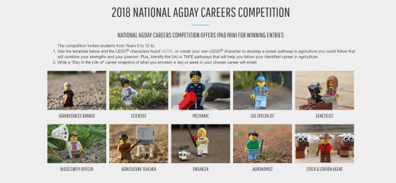 National AgDay Careers Competition Lego Characters
