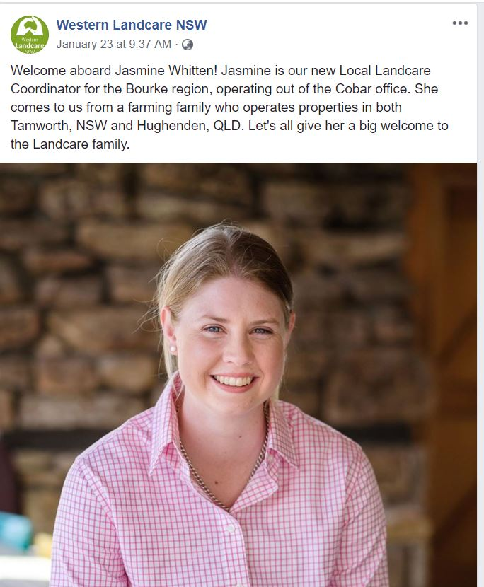 Young Farming Champion and Landcare coordinator Jasmine Whitten