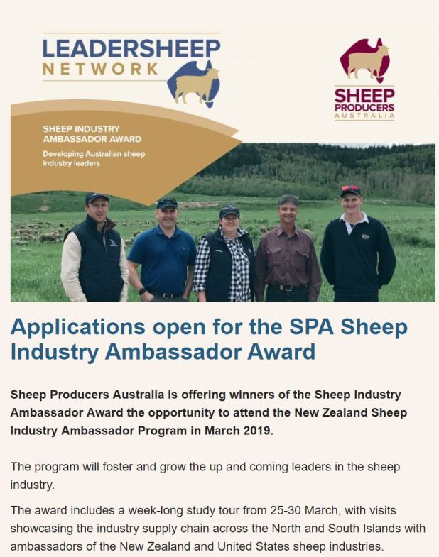 sheep industry ambassador award