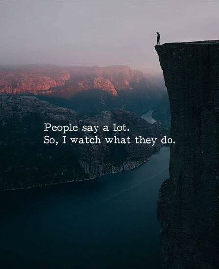 People say a lot