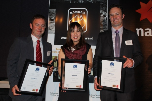 NCWSBA-Broker-Award-finalists-from-left-Landmarks-Matthew-Chambers-winner-Elders-Sam-Wan-and-Austrralian-Wool-Networks-Russell-Macgugan.