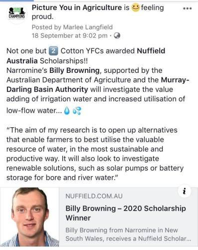 Billing Browning Nuffield PYIA