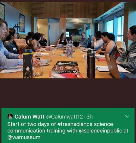 Calum Watt fresh science