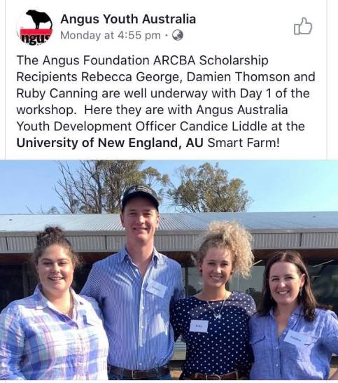 Becca George and Ruby Canning Angus Youth Australia